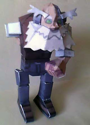 Barrell Caskett Papercraft (Mega Man Legends)