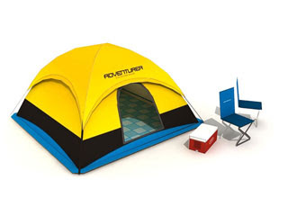 Dome Camping Tent Papercraft
