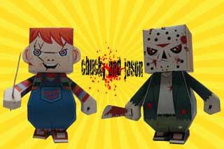 Chucky & Jason Papercraft