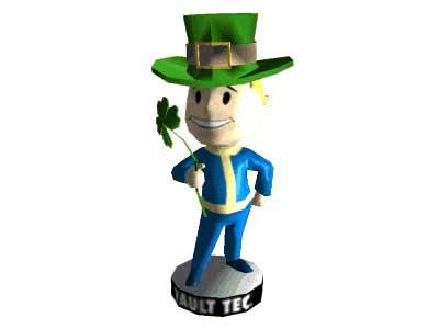 Fallout 3 Luck Bobblehead Papercraft