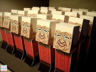 Grandma Pez Dispenser Papercraft