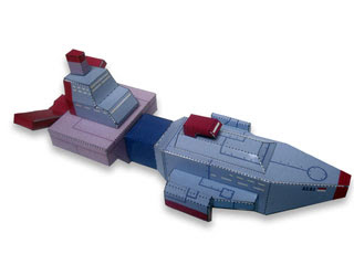 Space Explorer Ship Papercraft