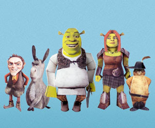 Shrek Forever After Papercraft