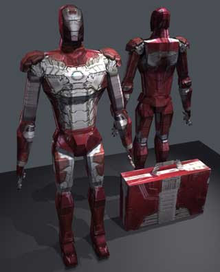 Iron Man 2 Mark V Armor Papercraft