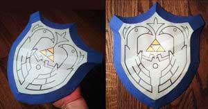 Wind Waker Mirror Shield Papercraft