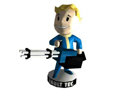 Big Guns Bobblehead Papercraft