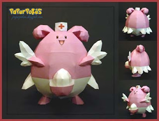 Pokemon Blissey Papercraft