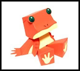 ROMMY Sloth Papercraft Toy - Frog