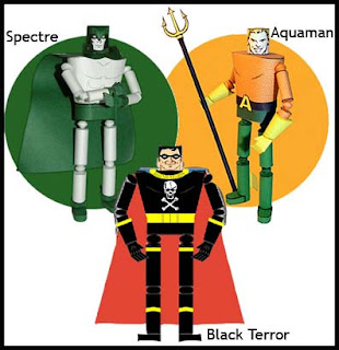 Retro Superhero Papercrafts - Spectre, Aquaman, Black Terror
