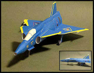 Saab 37 Viggen Papercraft Jet