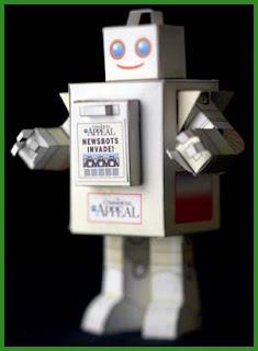 Newsbot Papercraft Robot