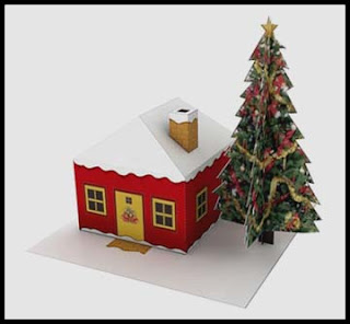 Build Your Own Christmas House Papercraft