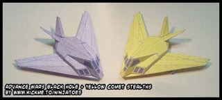 Advance Wars Stealth Fighter Papercraft