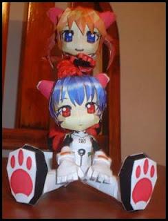Evangelion - Rei & Asuka Papercraft
