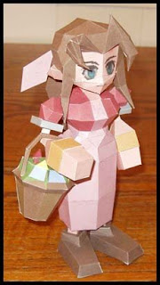 Final Fantasy Aerith Papercraft