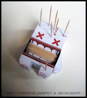 Voodoo Papercraft Toothpick Holder