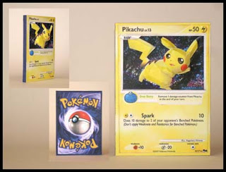 3D Pokemon Papercraft Trading Card