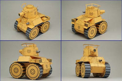SD Chi-Ha Tank Papercraft