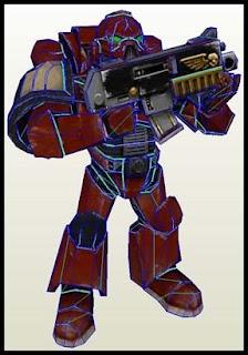 Warhammer 40K Space Marine Papercraft