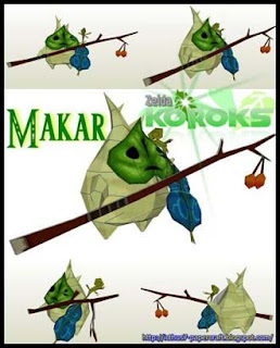 Legend of Zelda Korok Makar Papercraft