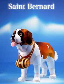 St. Bernard Dog Papercraft