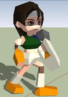 Final Fantasy VII Yuffie Papercraft