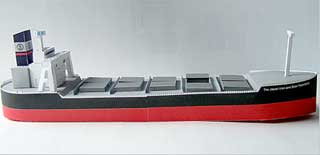 Japan Iron Ore Bulk Carrier Papercraft