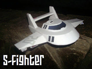 S Fighter Papercraft