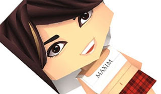Maxim Girl Paper Toy