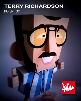 Terry Richardson Papercraft