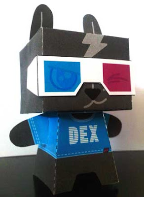 DEX Papercraft Toy
