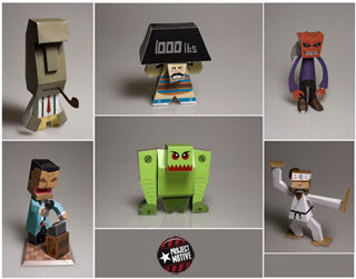Six Pack Paper Toys