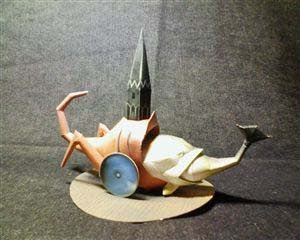 HIeronymous Bosch Tower Fish Monster Papercraft