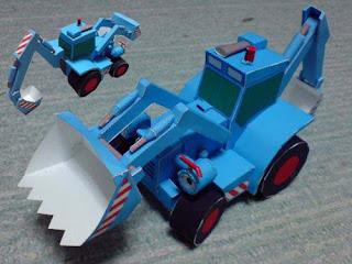 Digger Robot Papercraft