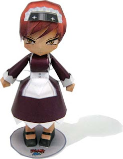 Kamen no Maid Guy Tsurara Papercraft