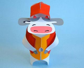 Cow Mascot Papercraft