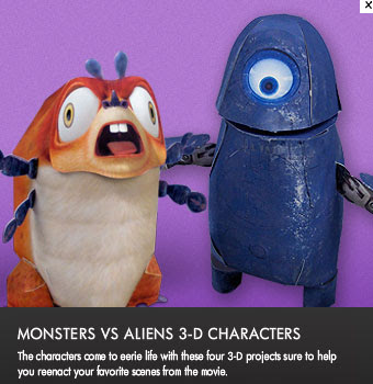 Monster vs. Aliens Papercraft