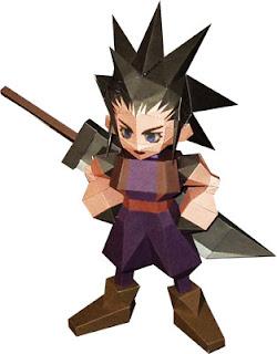 Final Fantasy VII Zack Fair Papercraft