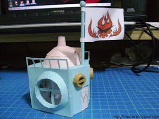 Gurren Lagann House Papercraft 2