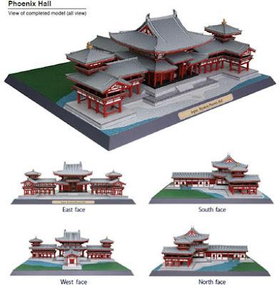 Byodoin Temple Phoenix Hall Papercraft 2