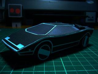 Automan Car Papercraft 1