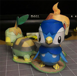 Pokemon Piplup Papercraft