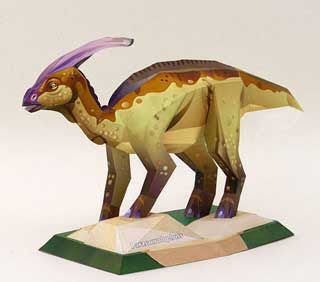 Parasaurolophus Papercraft