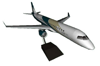 Embraer Lineage 1000 Jet Papercraft