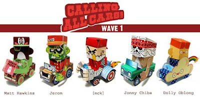 Calling All Cars Papercraft Wave 1