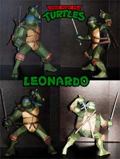 Teenage Mutant Ninja Turtle Leonardo Papercraft