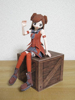 Anime Papercraft Chiaki