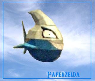 Cloud Piranha Papercraft