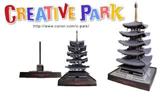 Horyuji Pagoda Temple Papercraft