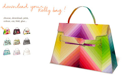 Hermes Kelly Bag Papercrafts